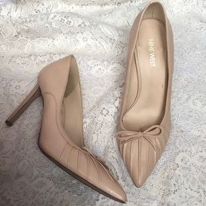 Nine West nude stilettos